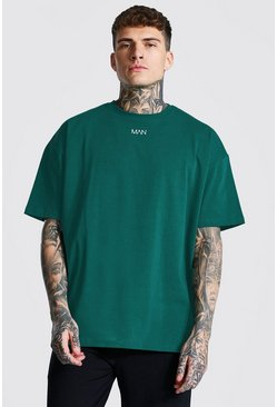 Green Oversized Original Man Heavyweight T-shirt