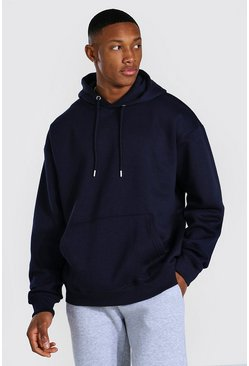 Navy Oversized Over The Head Hoodie