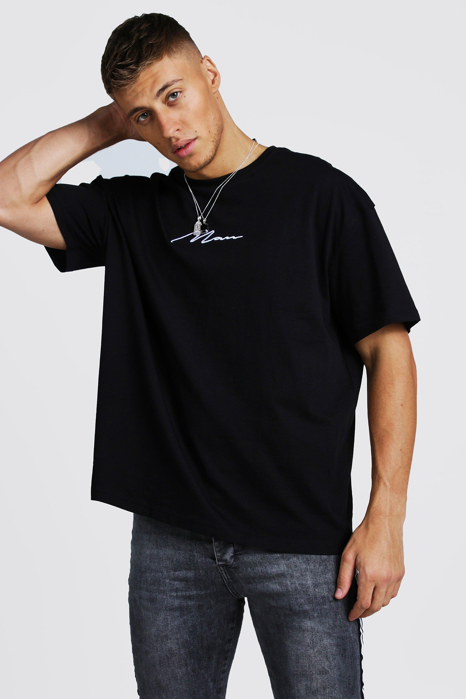 Oversized MAN Signature T-Shirt   BoohooMAN