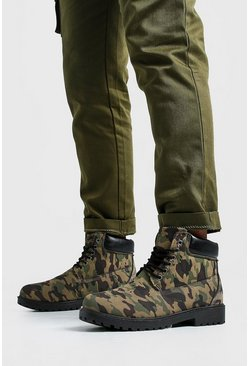Worker Boots in Camo-Optik, Camouflage