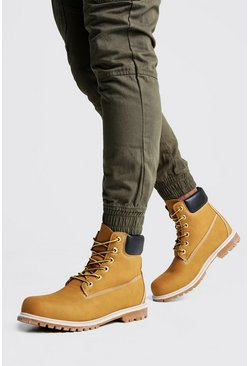 Mens Tan Worker Boots