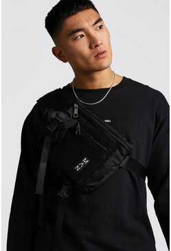 Mens Black Borg Pocket Cross Body Chest Rig