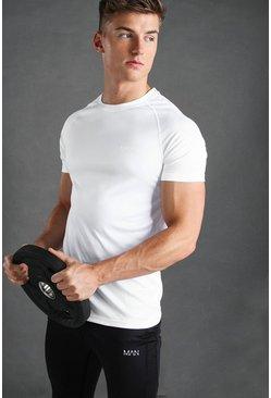 White MAN Active Raglan T-Shirt