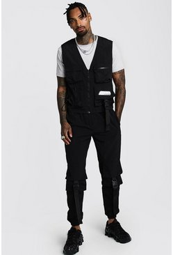 Black Utility Vest & Trouser Co-ord