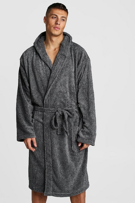 Grey Mens Hooded Katatonic Gown