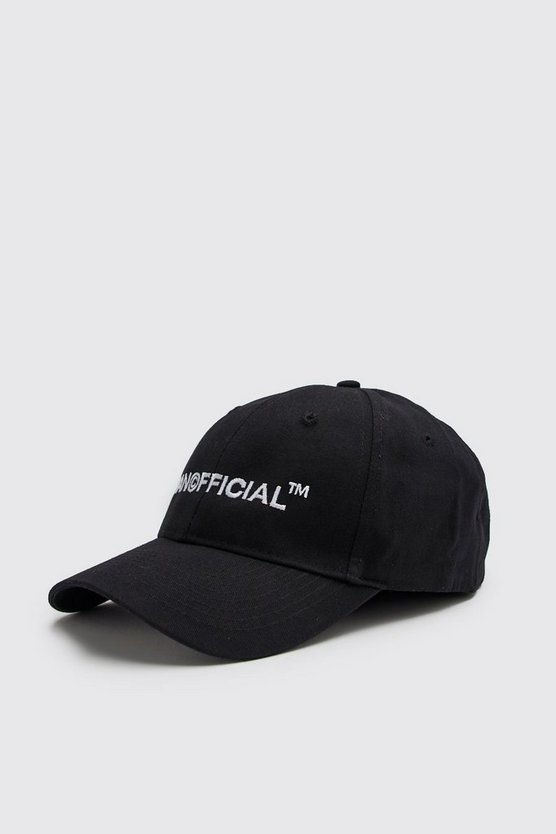 Mens Black MAN Official Embroidered Cap