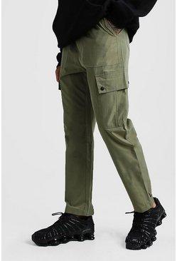 Khaki Cuffed Cargo Pocket Trouser
