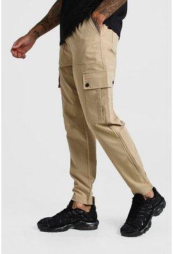 Stone Cuffed Cargo Pocket Trouser