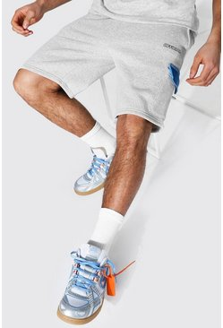 Blue Regular Official Colour Block Cargo Shorts