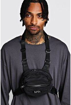 Black Circular Chest Rig With MAN Tab