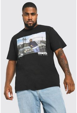 Mens Black Big And Tall Ice Cube License T-Shirt
