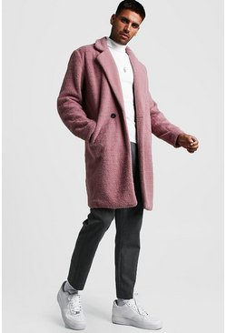 Dusky pink Wool Look Overcoat