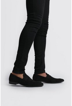 Black Velvet Loafer