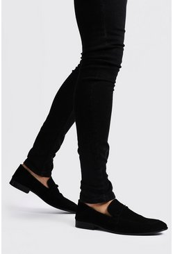 Black Faux Suede Loafer