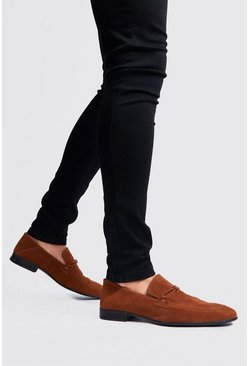 Rust Faux Suede Loafer