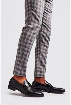 Black Patent Detail Saddle Loafer