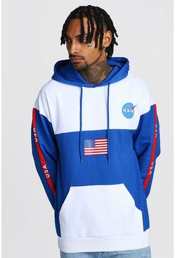 Blue NASA Colour Block License Hoodie