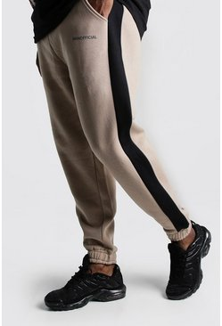 Taupe Big & Tall MAN Official Tape Joggers