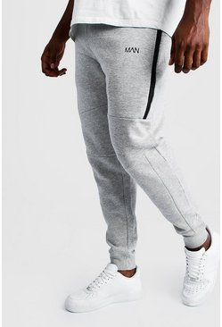Mens Grey Big and Tall MAN Dash Biker Jogger