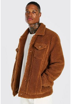 Brown Borg Trucker Jacket