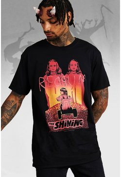 Mens Black Oversized The Shining License T-Shirt