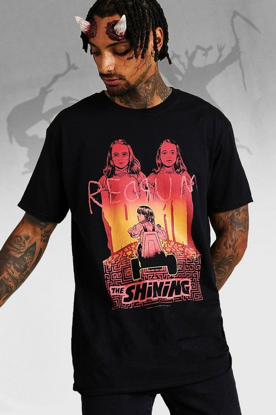 Mens Black Halloween Oversized The Shining License T-Shirt