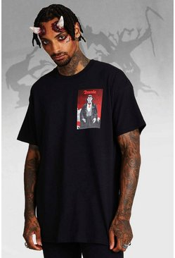 T-shirt Dracula officiel , Noir, Homme