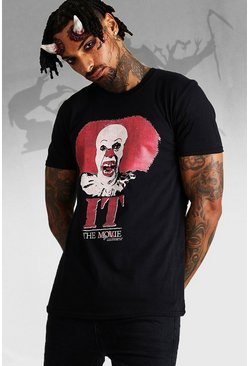 T-shirt IT The Movie officiel, Noir, Homme