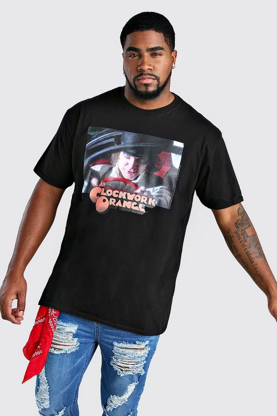 Mens Black Halloween Oversized Clockwork Orange License T-Shirt