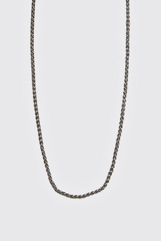 Mens Silver Wheat Chain