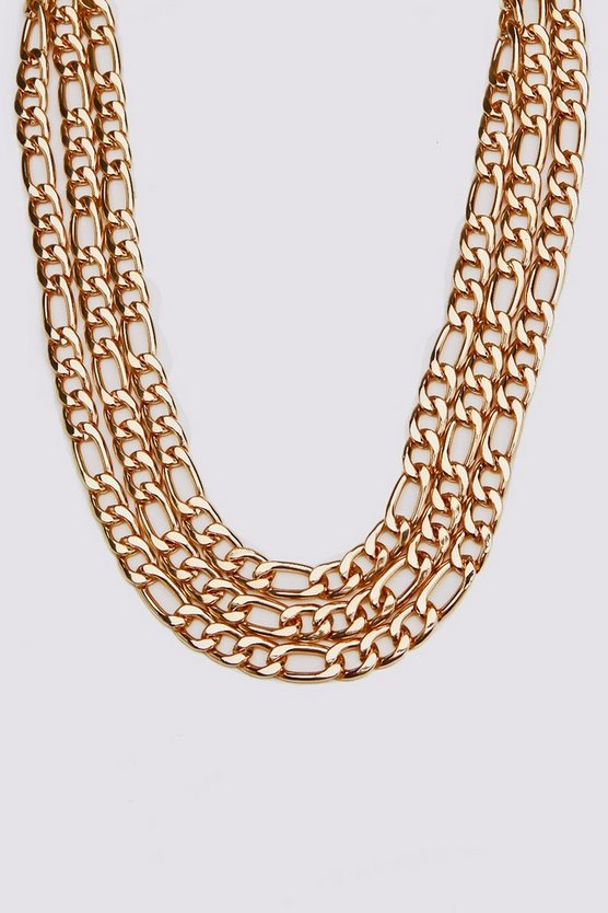 Gold Multi Layer Figaro Chain