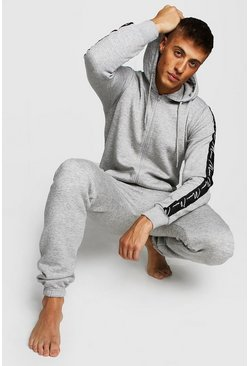 Mens Grey MAN Script Tape Onesie