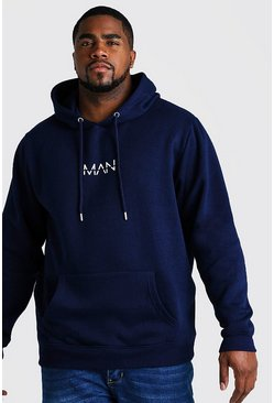 Navy Big and Tall MAN Dash Hoodie