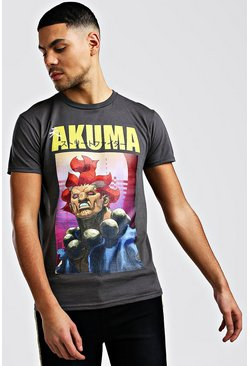 T-shirt Street Fighter officiel, Gris, Homme