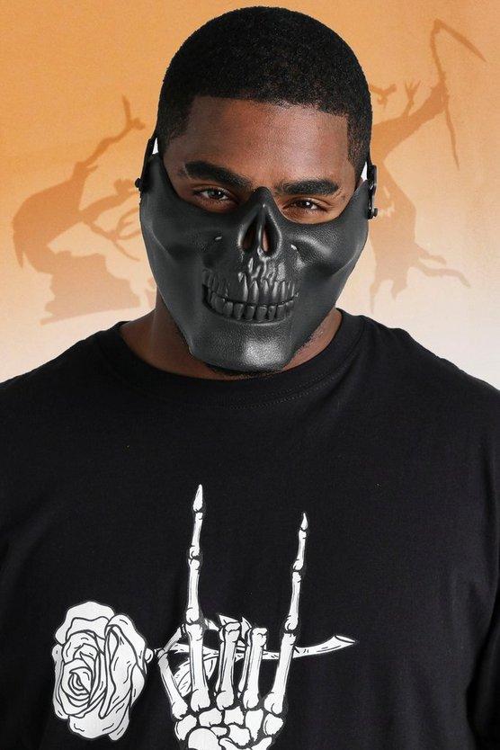 Half Skull Face Mask by Boohoo Man