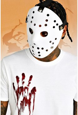 Mens White Halloween Hockey Mask