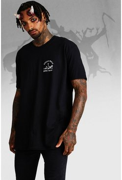 Mens Black Oversized Halloween Sleep When Your Dead T-Shirt