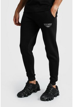 Mens Black MAN X Abode Skinny Fit Jogger