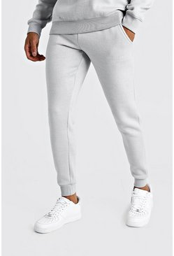 Mens Light grey MAN X Abode Skinny Fit Jogger
