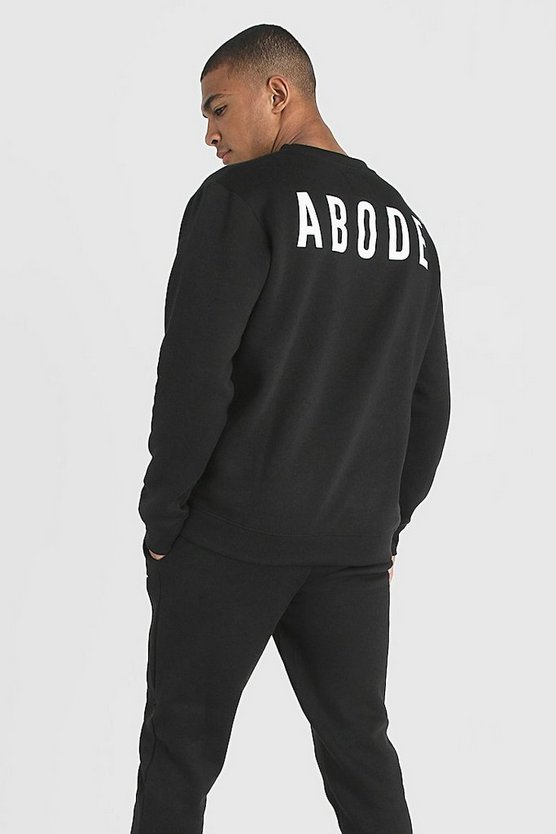 Mens Black MAN X Abode Regular Sweater