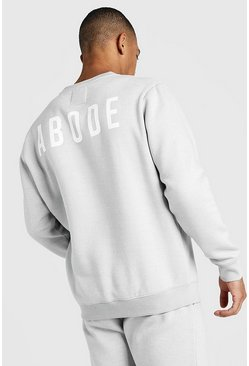 Mens Light grey MAN X Abode Regular Sweater