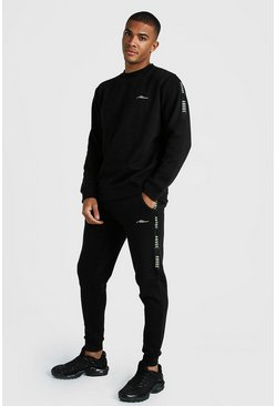 Mens Black MAN X Abode Sweater With Tape
