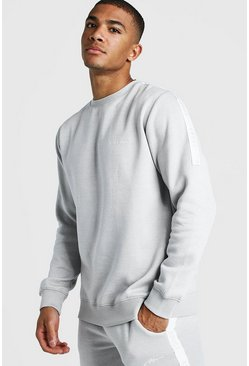 Mens Light grey MAN X Abode Sweater With Tape