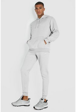 Mens Light grey MAN X Abode Skinny Hooded Tracksuit