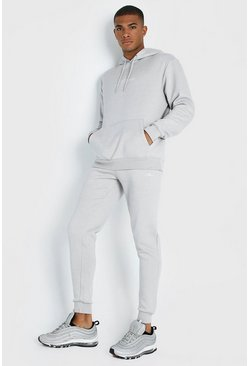 Mens Light grey MAN X ABode Hooded Tracksuit With Tape
