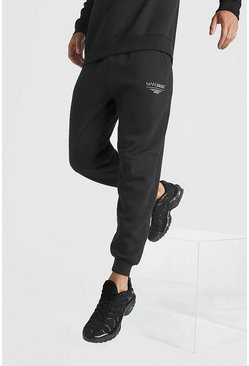 Mens Black MAN X Abode Loose Fit Jogger