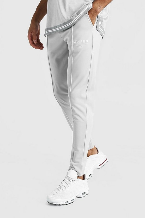 Man X Abode Tricot Pintuck Jogger by Boohoo Man