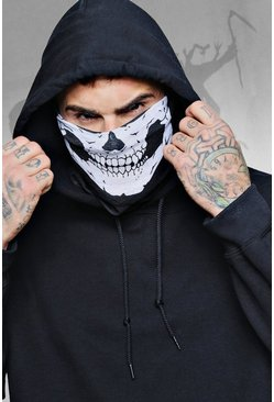 Mens Black Halloween Skull Bandana
