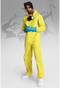Mens Yellow Halloween Hazmat Fancy Dress