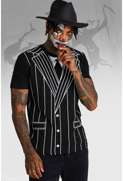 Mens Multi Halloween Gangster Fancy Dress Set
